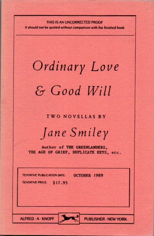 Ordinary Love and Good Will. Jane SMILEY.