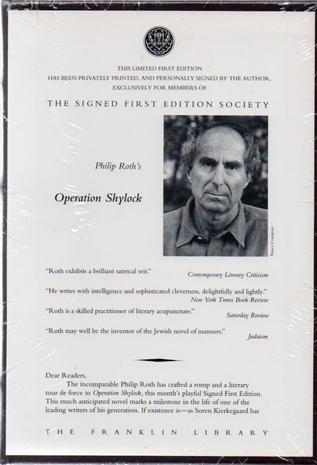 Operation Shylock. Philip ROTH.