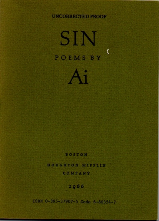 Sin. New and Collected Poems. Ai, Ogawa.