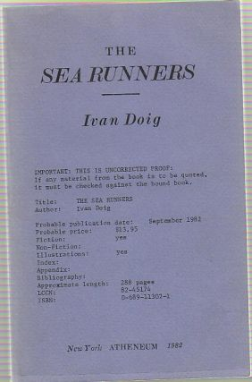 The Sea Runners. Ivan DOIG