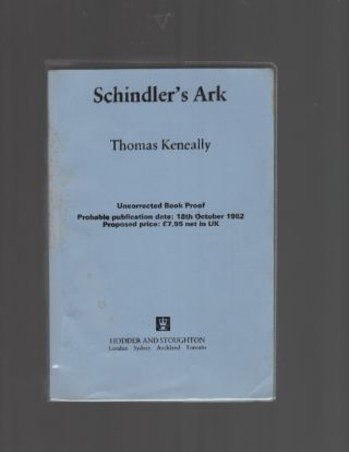 Schindler's Ark. Thomas KENEALLY