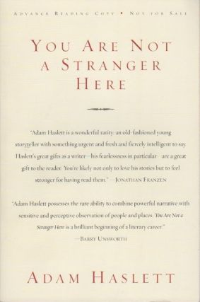 You Are Not a Stranger Here. Adam HASLETT