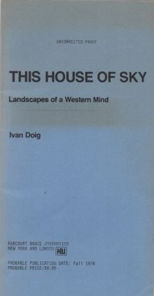 This House of Sky. Landscapes of a Western Mind. Ivan DOIG