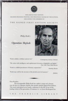 Operation Shylock. Philip ROTH