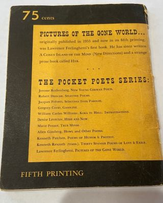 Pictures of the Gone World (Pocket Poets Series)